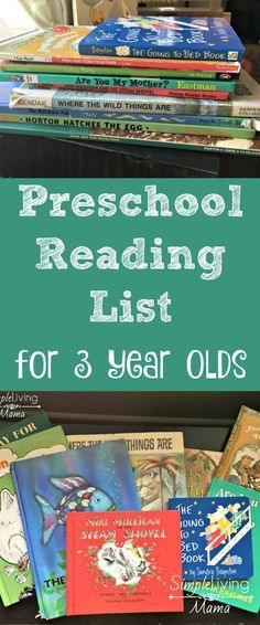This preschool book list for 3 year olds is full of wonderful books that you can use to introduce your child to the amazing world of reading!