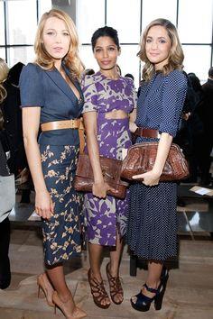 Blake Lively, Freida Pinto and Rose Byrne Michael Kors front row New York Fashion Week #Streetstyle #NYFW 2014