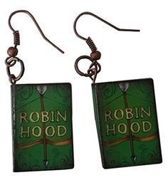 Robin Hood Story Book Dangle Earrings $12.95 Created and sold exclusively by Lil Miss Marmalade