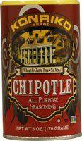 Great Konriko All Purpose Seasoning Gluten Free Chipotle -- 5 oz, ,