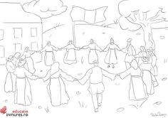 Planse de colorat pentru copii - Hora