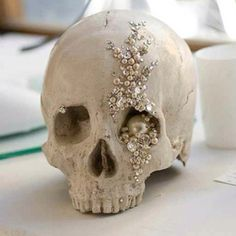 We think this fancy skull is beautiful but still pretty hardcore.