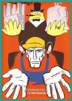 Soviet poster anti-capitalism