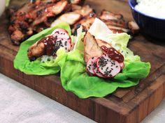 Koreansk kyckling med picklade rädisor | Recept från Köket.se