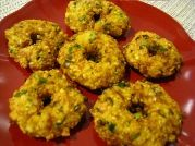 Squash Vada   A unique recipe with yellow summer squash, the squash vada is a crunchy vegetarian (vegan) fried fritter and makes a great appetizer as well as picnic food. The lentils and squash make this a healthy snack and appetizer.