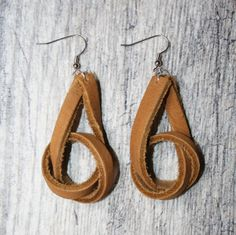 Genuine Leather Knot Earrings by ToKeepAndToGive on Etsy