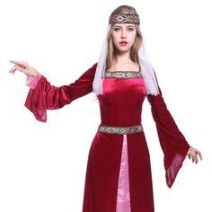 Maid Marion Lady Marian Robin Hood Kostüm Renaissance Mittelalter Medieval Kleid