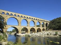 Pont du Gard, Pont du Gard, France. Southern France has some fine Roman sites, but nothing can top the Unesco World Heritage Site–listed Pont du Gard, 21km northeast of Nîmes. This fabulous three-tiered aqueduct was once part of a 50km-long system of water channels, built around 19 BC to transport water from Uzès to Nîmes. The scale is huge: 48.8m high, 275m long and graced with 35 precision-built arches; the bridge was sturdy enough to carry up to 20,000 cubic metres of water per day.  Read…