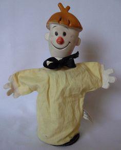 Vintage 1962 Kokonut Hand Puppet Out of the Inkwell TV Cartoon Show Gund Mfg #GundMfgCo