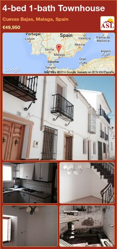 Townhouse for Sale in Cuevas Bajas, Malaga, Spain with 4 bedrooms, 1 bathroom - A Spanish Life Murcia, Valencia, Malaga Airport, Malaga Spain, Tidy Up, Town Hall, Ground Floor, Townhouse, Property For Sale