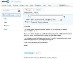 Formatted Job Search Email Message Examples: Formatted Sample LinkedIn Message Example