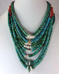 Antique Turquoise Jaclas Necklace