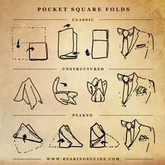 How to fold a pocketsquare for a suit pocket #Men #Suit #Style