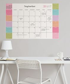 Look what I found on #zulily! Color Block Academic Calendar 2016-17 Wall Decal by WallPops! #zulilyfinds