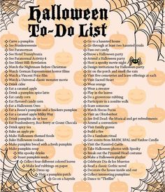 """Halloween To-Do List"" I will be printing this out and seeing how many I can get through."