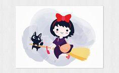 Greetings card Kiki and Jiji Delivery service PDF di Cloudreams
