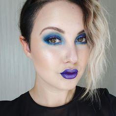 "Michelle on Instagram: ""-echoes- Details in the previous. #motd #lotd #eotd #makeup #beauty #instamakeup #instabeauty #kvdlook #mufe #makeupforever #maccosmetics #nyxcanada #makeupinspo #colourful #colourfulmakeup #glow #blue #purple #lashes #blonde #universodamaquiagem_oficial #makeupfanatic1 #allbeautymatters #inssta_makeup #talkthatmakeup #wakeupandmakeup #brian_champagne #undiscovered_muas"""