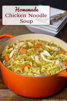 Nothing warms you up on a cold winter day like a bowl of this Homemade Chicken Noodle Soup!
