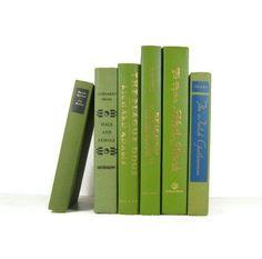 Vintage Green Decorative Books  Photo Props