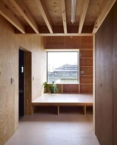 Ama House By Katsutoshi Sasaki Associates - Japanese Studio Katsutoshi Sasaki Associates Has Recently Completed The Ama House Project A Single Story Family House Surrounded By Rice Fields And A Network Of Main Roadways This Square Foot Plywood Interior, Plywood Walls, Plywood Furniture, Modern Furniture, Furniture Design, Interior Exterior, Interior Architecture, Sustainable Architecture, Japanese Interior