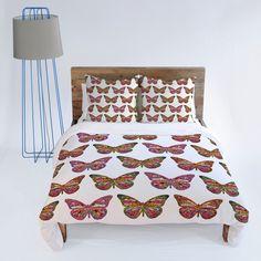 Bianca Green Butterflies Fly Duvet Cover