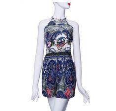 Dámský overal modrý se vzorem – dámské overaly + POŠTOVNÉ ZDARMA Na tento produkt se vztahuje nejen zajímavá sleva, ale také poštovné zdarma! Využij této výhodné nabídky a ušetři na poštovném, stejně jako to udělalo … Backless Jumpsuit, Floral Romper, Playsuit, Boho Shorts, Floral Prints, Rompers, Formal Dresses, Skirts, Polyvore