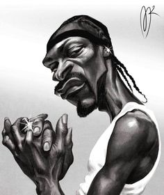 Snoop Dogg Caricature by Marzio Mariani. #Celebrity #Caricatures #Oddonkey