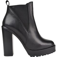 KG Kurt Geiger Skye Chunky Ankle Boots (€160) ❤ liked on Polyvore featuring shoes, boots, ankle booties, black, bootie, ankle boots, black ankle booties, high heel boots and booties