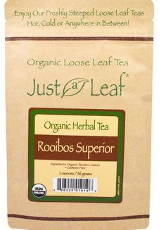 Organic Rooibos Tea Loose Leaf 2 oz (56 g)  Caffeine Free Free Shipping  #justaleaf