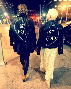 Love this matching best friend jacket.