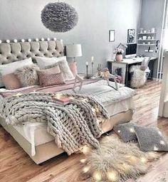 The Do This, Get That Guide On Led Room Lights Bedrooms Ideas - homeexalt - Regina Sielk - Schlafzimmer Welt Dream Rooms, Dream Bedroom, Home Bedroom, Girls Bedroom, Bedroom Furniture, Bedroom Decor, Master Bedroom, Light Bedroom, Master Suite