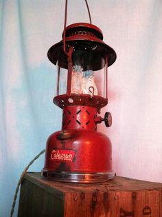 Vintage Coleman Lantern Lamp Industrial by ModernArtifactDecor, $225.00