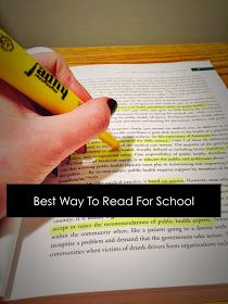 Uniquely College: Best Way To Read For School
