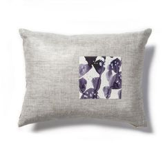 Wildflowers Pillow in Midnight Lavender