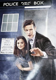 Doctor Who - Jenna-Louise Coleman & Matt Smith. I liked Matt Smith much better paired with Clara. Undécimo Doctor, Doctor Who 2005, Eleventh Doctor, Doctor Who Clara, Matt Smith Doctor Who, Geronimo, Tardis, Dc Comics Film, Bae