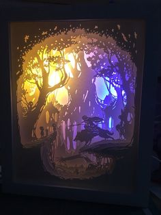 Paper cut light box lightbox night light accent lamp shadow box dreambox 3D box light