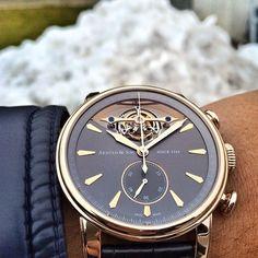 Arnold & Son Royal TEC1 Tourbillon Chronograph Watch #beautifulmenswatches #arnold #and #son #arnoldandson #rose #gold #watch #watchoftheday #luxury #watch #watchanish  @watchanish