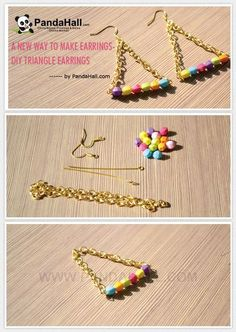 Jewelry Making Tutorial-A New Way to Make Triangle Earrings