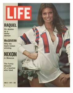 The cover of Life magazine features a portrait of American actress Raquel Welch in costume and on the set of her roller derby film 'The Kansas City Bomber' , June The cover also features. Get premium, high resolution news photos at Getty Images Rachel Welch, Life Magazine, Magazine Rack, Rita Hayworth, Roller Derby, Roller Skating, Roller Rink, Jane Birkin, Rollers
