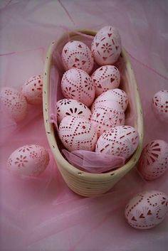 Ružový madeirový veľkonočný set. Autorka: stanula: Veľká noc, veľkonočné vajíčka, kraslice, diy, madeira, handmade. Artmama.sk