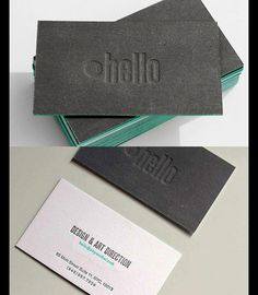 Dark Letterpress Business Cards