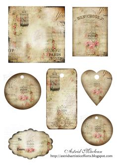 Again, this paper crafter has tons of free printables in every style, shabby chic, vintage valentines, vintage Christmas, tags, labels, heart shapes, etc. Wonderful that they are all free!