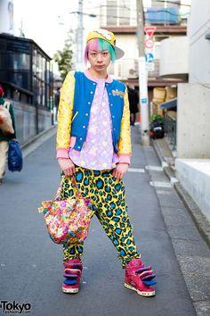 Colorful Harajuku Guy w/ 6%DokiDoki, SuperLovers, Galaxxxy & SPX Sneakers