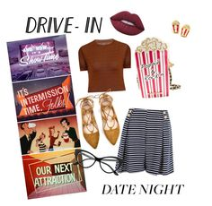 """Summer Date 2k16"" by jsimmsntwk ❤ liked on Polyvore featuring Betsey Johnson, Elvi, Lime Crime, DateNight, drivein and summerdate"
