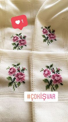 This Pin was discovered by Ema Cat Cross Stitches, Cross Stitch Needles, Cross Stitch Borders, Cross Stitch Rose, Cross Stitch Flowers, Cross Stitch Designs, Cross Stitching, Cross Stitch Patterns, Ribbon Embroidery
