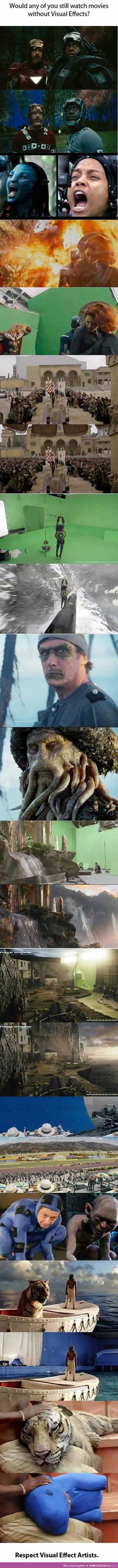 Behind the special effects..