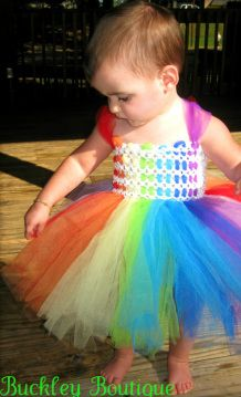 Rainbow Tutu Dress   www.facebook.com/melodystutus