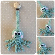 Chupeteros o porta chupetes a crochet tejido a mano con ganchillo para bebé - Heidemarie Wilk - Chupeteros o porta chupetes a crochet tejido a mano con ganchillo para bebé Como hacer un sujeta chupete de ganchillo Crochet Baby Toys, Crochet Animals, Crochet For Kids, Crochet Dolls, Baby Knitting, Knit Crochet, Amigurumi Patterns, Crochet Patterns, Crochet Pacifier Holder