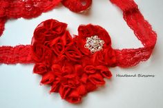Precious Red Heart Maternity Sash Belt - Pregnancy Photo Prop - It's A Girl Boy or Gender Neutral - Red Fabric Flower Heart - Pearl Maternity Photo Props, Maternity Sash, Fabric Roses, Red Fabric, Fabric Hearts, Fashion Tape, Sash Belts, Chiffon Flowers, Maternity Photographer