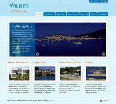 Website for Valente Rooms in Perlia, Poros